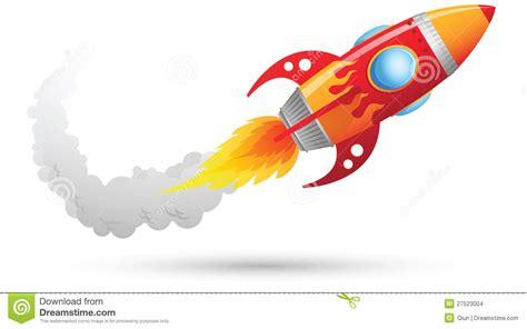 Raket Usa het vliegen de raket vector illustratie illustratie