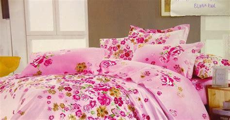 Tencel Bunga Pink sprei jepang motif bunga pink sprei lovina grosir sprei