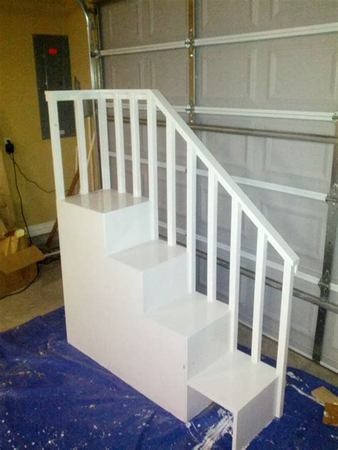 Stairs For Bunk Bed by White Classic Bunk Bed With Sweet Pea Stairs Diy