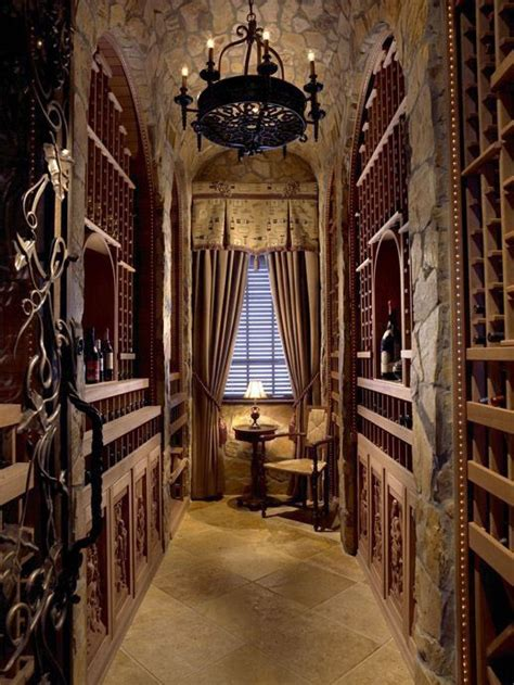 Wine Cellar Old World Style With Wrought Iron Chandelier Wine Cellar Chandeliers