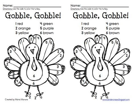 turkey coloring pages for kindergarten thanksgiving color by number turkey freebie