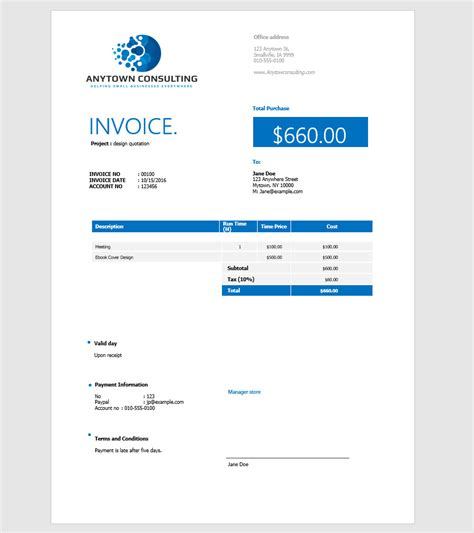how to create template in php how to make an invoice in word from a professional template