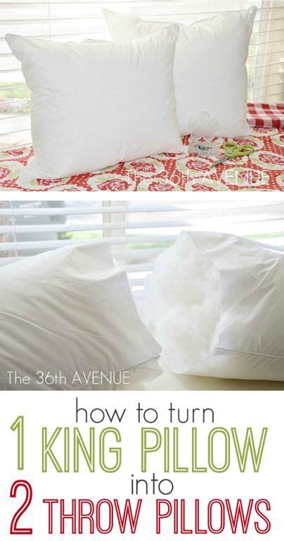 How Much Is A King Size Pillow Top Mattress how to turn a king sized throw pillow into two throw pillows sewing crafts
