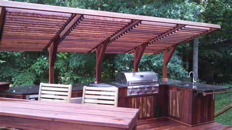 Backyard Overhang Louvered Deck Roof Diy Crafts