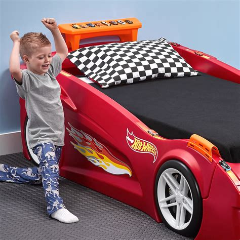 hot wheels car bed hot wheels toddler to twin race car bed red kids bed