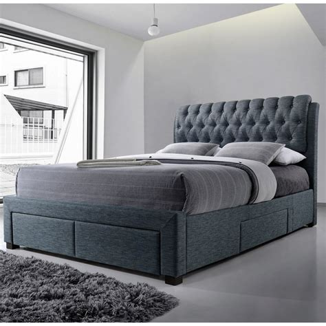 Bed Frame With Headboard Storage Kitchen Inspiring Upholstered Bed Frame With Storage
