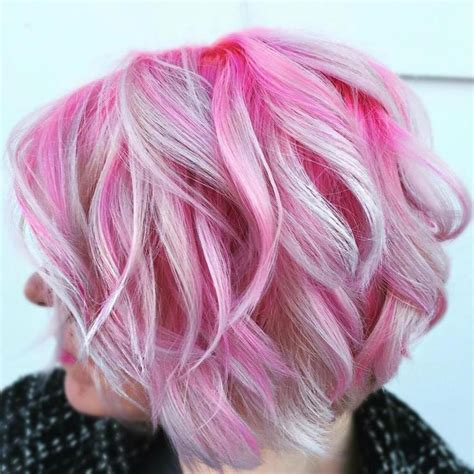 pictures of grey hairstyles with pink highlights 25 best ideas about pink hair highlights on pinterest