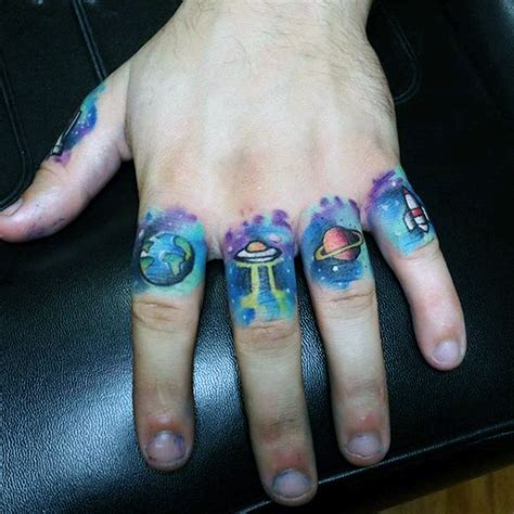 tattoo on outer hand 100 ufo tattoo designs for men alien abduction ink