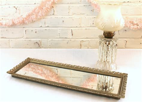 Mirrored Trays For Dressers by Vintage Mirrored Dresser Tray Vanity By Dreamcottagechic