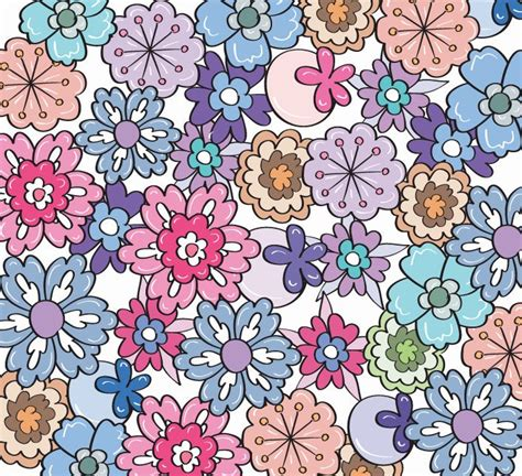 flower pattern modern 8 best images of modern floral print fabric free vector