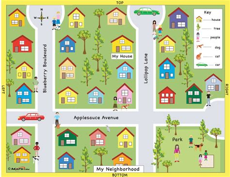 map neighborhoods my neighborhood a map designed with the early learner in