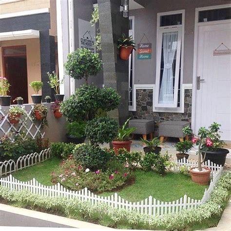 desain taman depan rumah minimalis sederhana rumahku unik