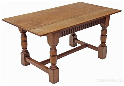Oak Refectory Dining Table Oak Refectory Dining Table Kitchen Antiques Atlas