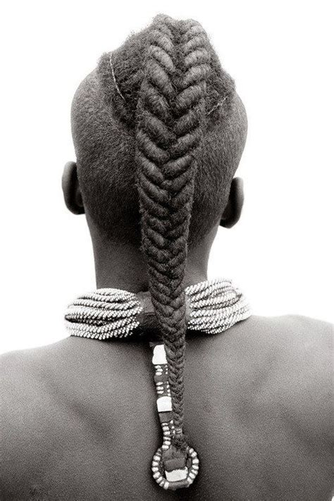 african hair braiding styles fish tails himba woman from nambia with twisted fish tail braid