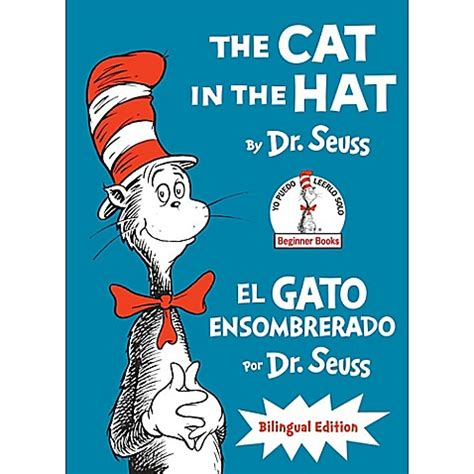 the cat in the hat in english and quot the cat in the hat quot spanish english version by dr seuss buybuy baby