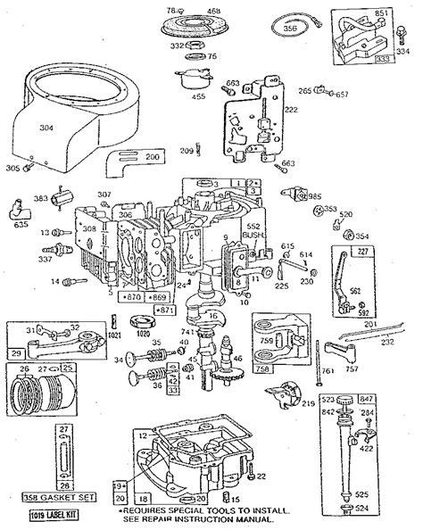 briggs and stratton 158cc carburetor diagram briggs and stratton 6 5 hp intek engine diagram briggs and