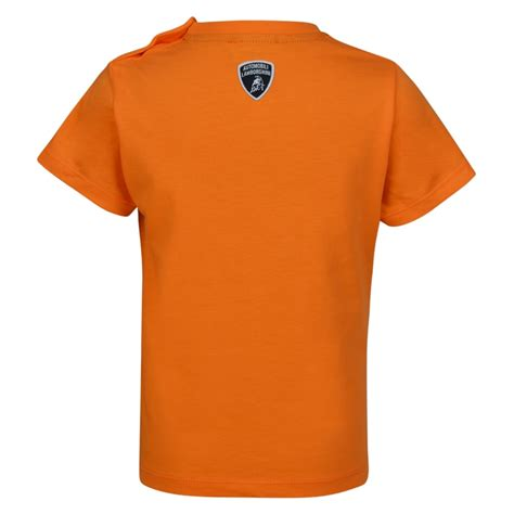 lamborghini clothing lamborghini baby boys orange logo t shirt lamborghini