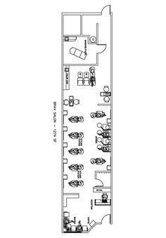 freddie b salon spa stand alone tenant improvement salon design floorplan layout by ab salon equipment