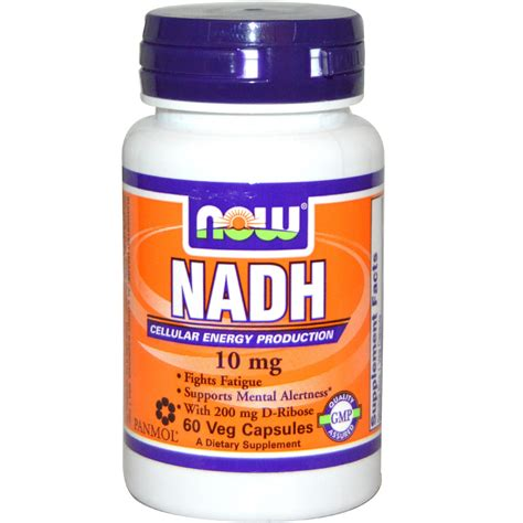 h 86 supplement now foods nadh 10 mg 60 veggie caps iherb
