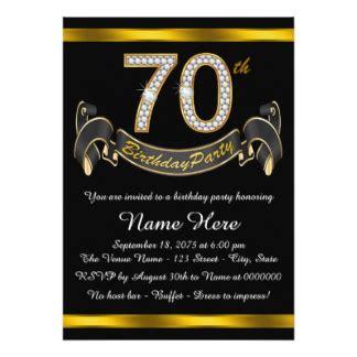 70th birthday invitations announcements zazzle