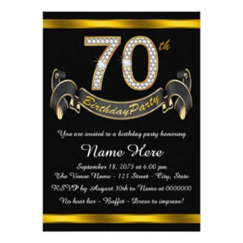 70 birthday invitation template 70th birthday invitations announcements zazzle