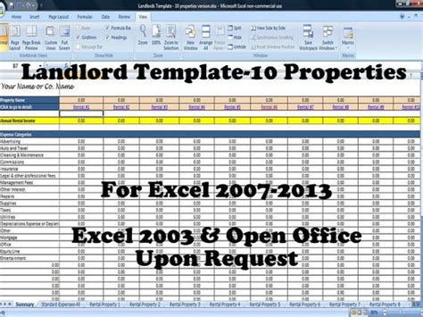 Landlord Spreadsheet by Landlords Rent And Expense Tracking Template 10