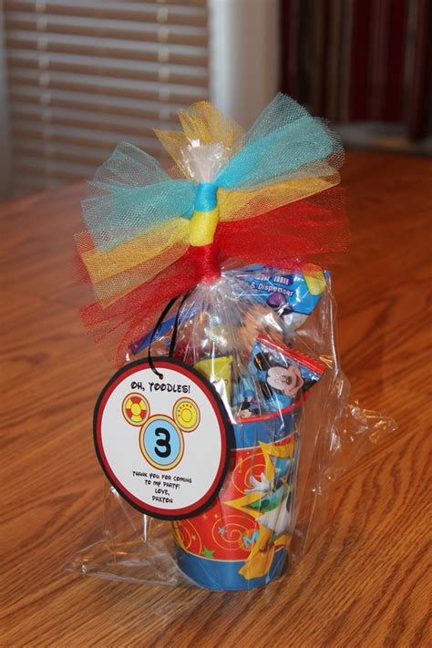 Mickey Mouse Clubhouse Birthday Giveaways - mickey mouse clubhouse party favor ashleys pinterest