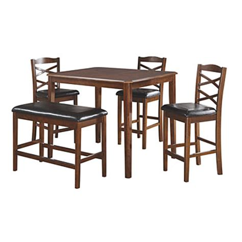 big lots pub table with bench 5 wooden pub set with bench big lots