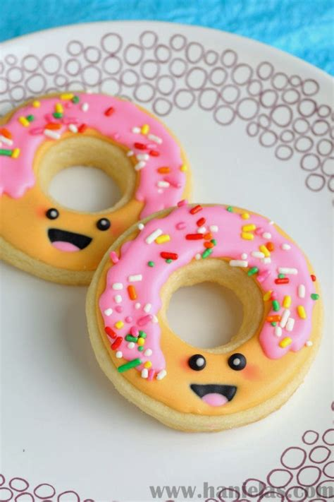 Donut Decorations by Haniela S Kawaii Decorated Donut Cookies