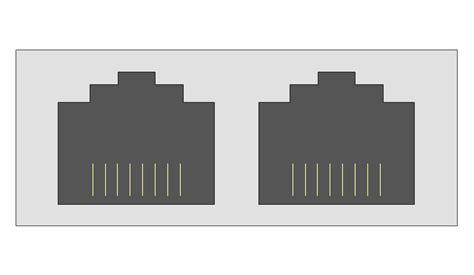rj45 visio stencil cable