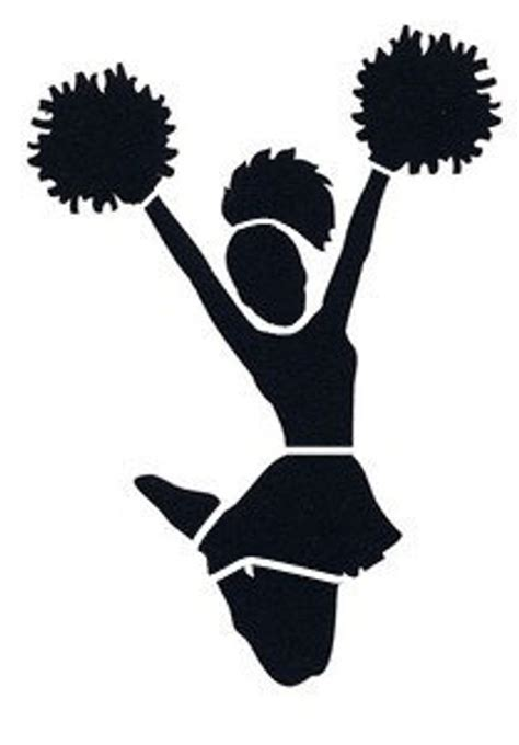 Items Similar To Cheerleader Stencil On Etsy Cheer Template