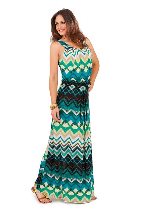 ebay womens dresses womens striped zig zag strappy maxi full length summer