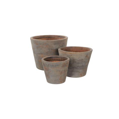 vendita vasi in terracotta vasi in terracotta set x3 vasi in terracotta ambroso
