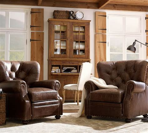 pottery barn lansing leather recliner pottery barn buy more save more 4th of july sale 25 off
