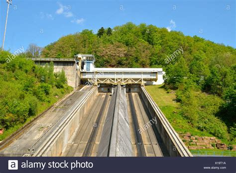arzviller boat lift france marne rhine canal stock photos marne rhine canal stock