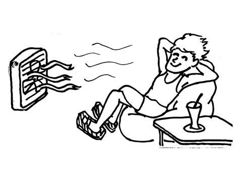 imagenes para colorear que se puedan imprimir colorea al hombre frequito con el ventilador