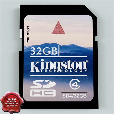 New Memory Card V 32 3d model of memory card sd 32