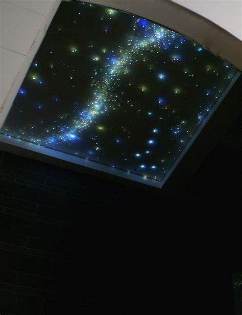 badezimmer sternenhimmel met milchstrasse und sternschnuppe
