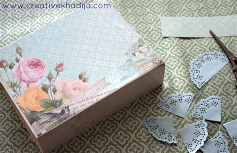 How To Decoupage With Scrapbook Paper - how to decoupage box with scrapbook paper