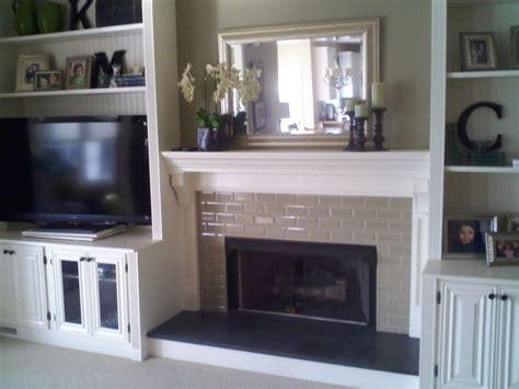 fireplace with built in bookshelves     Custom Trimwork