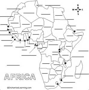 Africa Fill In The Blank Map Quiz by Dsst Discover Social Studies Then Today Tomorrow Map