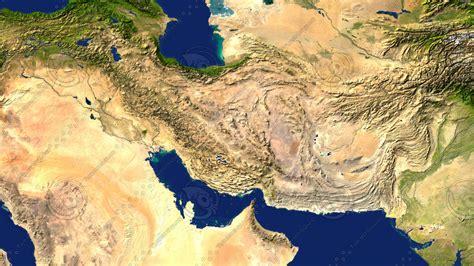 satellite map of iran max iran maps