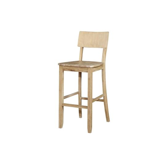 linon home decor bar stools linon home decor 30 in bar stool 017102nat01u the home depot