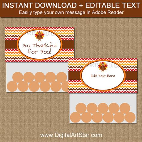 treat label template printable thanksgiving treat bag topper template