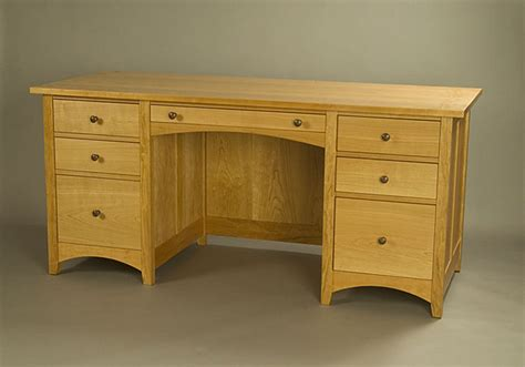 Handmade Cherry Furniture - custom cherry desk lomas custom furniture