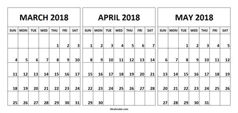 printable 3 month calendar march april may 2016 march april may 2018 calendar happyeasterfrom com