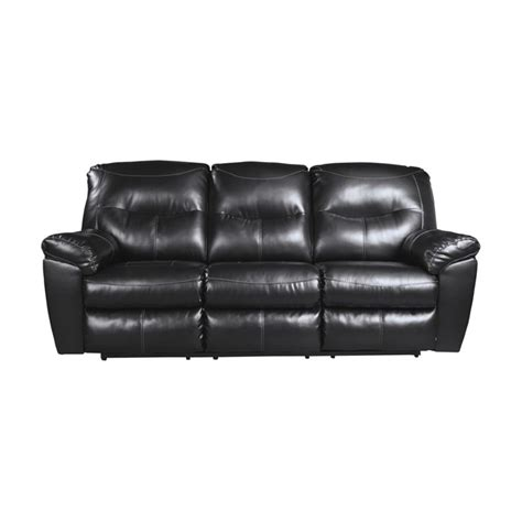 Ashley Kilzer Durablend Reclining Leather Sofa In Black Durablend Leather Sofa