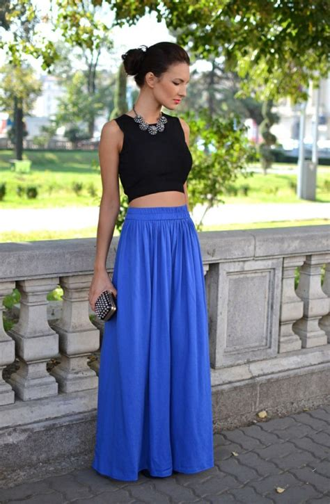 fabulous ways to wear a maxi skirt for aelida