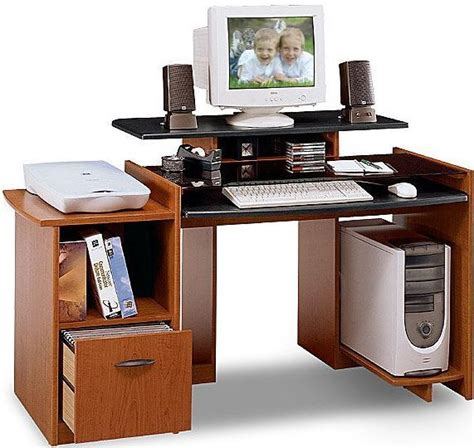 bush mm69500 desk with file visions collection rosewood