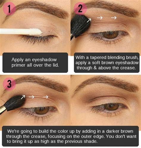 Eyeshadow Application eyeshadow application for brown